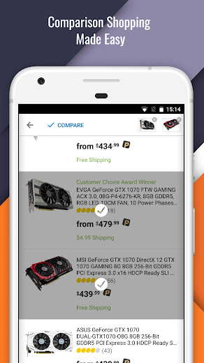 Screenshot 1 for Newegg's Android app'