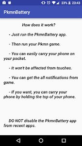 Save your battery for pokemon v2.0
