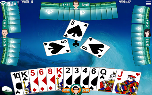 Télécharger Golden Card Games (Tarneeb - Trix - Solitaire) APK MOD (Astuce) screenshots 1