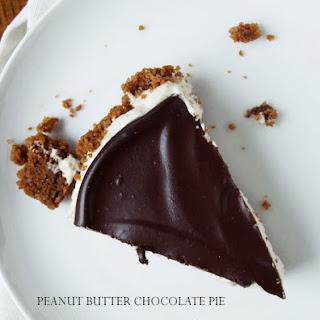 No Bake Peanut Butter Chocolate Pie.