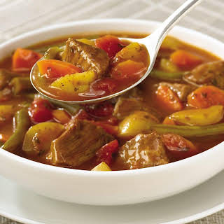 Slow Cookers Vegetable Beef Soup.