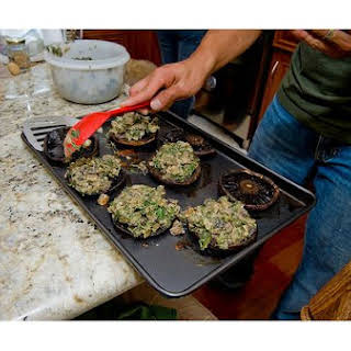 Spinach-Stuffed Mushrooms.