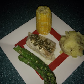 Walleye with Lemon Caper Sauce