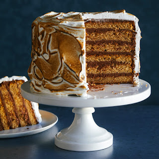 Six Layer S'mores Cake.