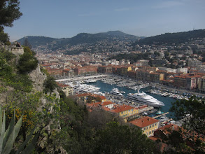 Photo: And on the other side, old Nice, the harbor, and some big yachts.