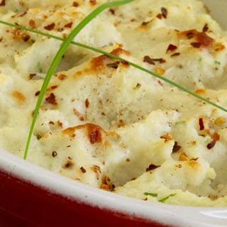 Creamy Cauliflower (Fauxtato) au Gratin