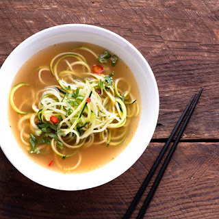 Wok-Fried Zucchini Noodles With Spicy Bone Broth