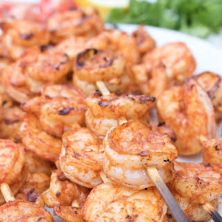 Spicy Grilled Shrimp Skewers.