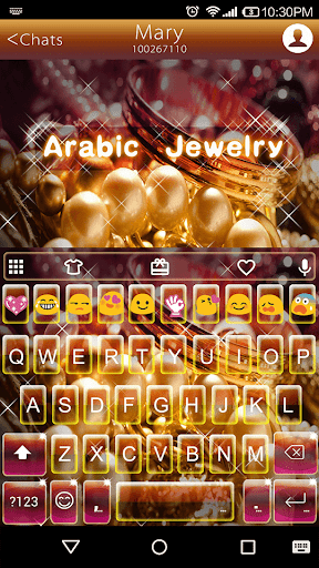 Arabic Jewelry Emoji Keyboard
