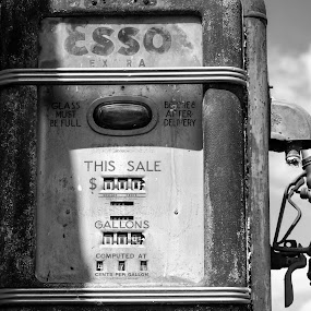 Get the lead out out by Damon Hensley - City,  Street & Park  Street Scenes ( gas, rust, deteriorated, esso )