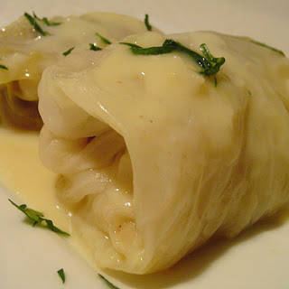 Stuffed Cabbage with Egg Lemon Sauce (Lahanodolmades Avgolemono)