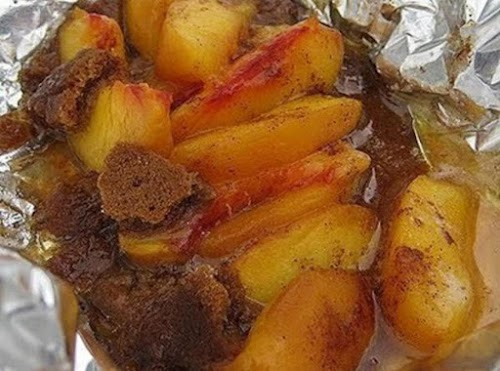 """Grilled Peaches By Freda """"Grilled Peaches, and Georgia Peaches of course, a..."""