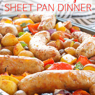 Italian Sausage Sheet Pan Dinner.
