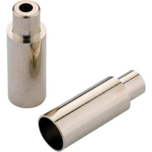 Jagwire 5mm Open Step Down End Caps Chrome Plated, Bottle of 100