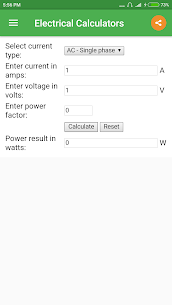 Electrical Calculator App Download For Android 4