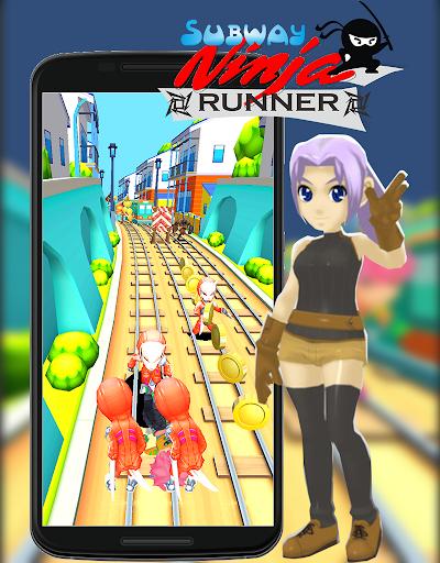 Subway Ninja Runner Go! 1.0 screenshots 2