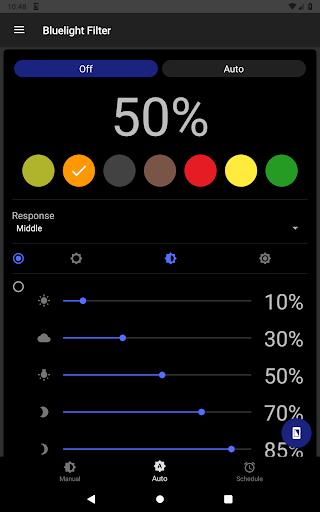 Bluelight Filter for Eye Care - Auto screen filter screenshot 14