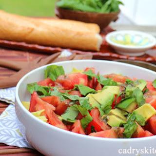 Caprese Salad with Basil Vinaigrette & Avocado