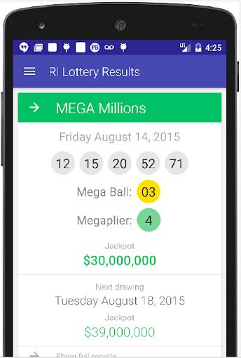 RI Lottery Results