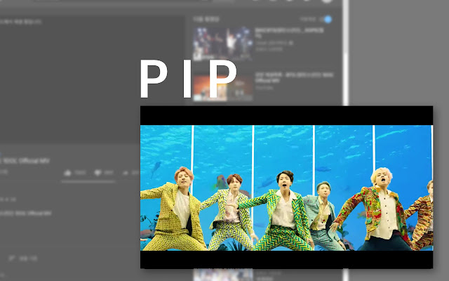 PIP screen for html5 video