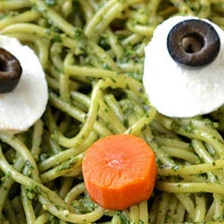 Monster Pesto Halloween Pasta