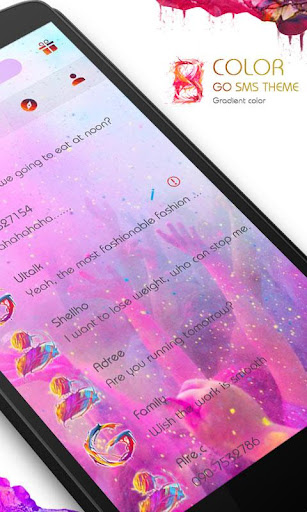 (FREE) GO SMS COLOR 2 THEME screenshots 1