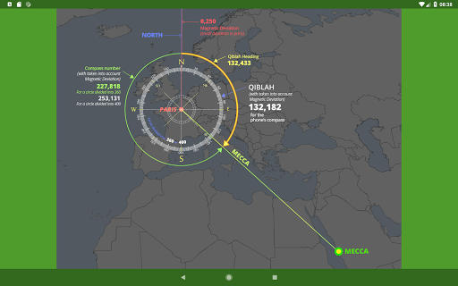 Islam.ms Prayer Times Qibla finder Locator Compass screenshot 23