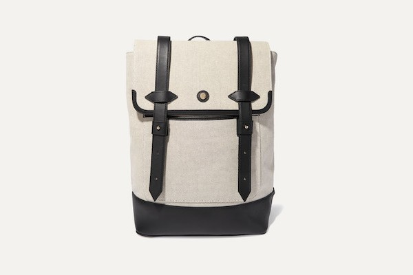 Paravel - Upland Leather-trimmed Canvas Backpack - Black from Net-A-Porter