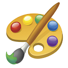 3 years educational coloring game icon