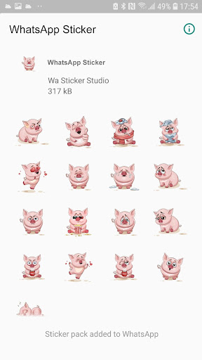 Piggy Animal Stickers for WhatsApp, WAStickerApps 2.0.3 screenshots 2