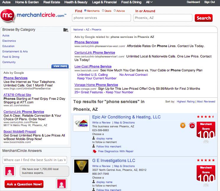 MerchantCircle_Example Search