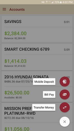 Mission Fed Mobile Banking Screenshot