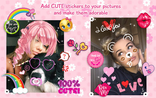 Cute Stickers for Photos ud83dudc9d Girl Pic Editor 1.0 screenshots 9