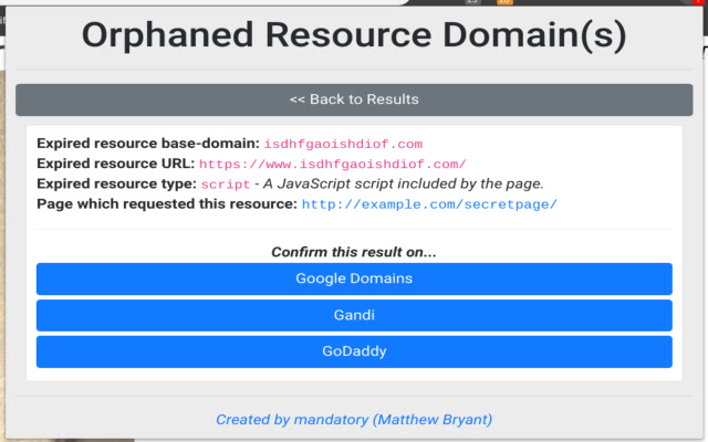 Orphaned Resources