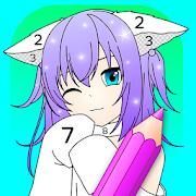 Anime Manga Color by Number - Kawaii Coloring Book