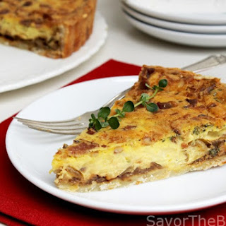 Caramelized Onion and Swiss Cheese Quiche