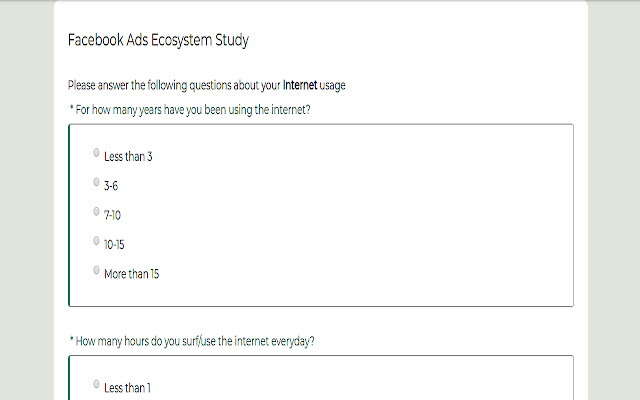 Ad Ecosystem Study in Social Networks