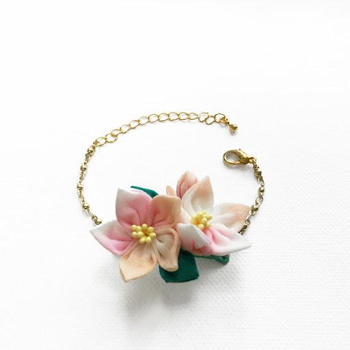 Floraspark 香港手作手鏈|布花|棉棉珠