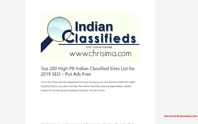 Chrisima - Indian Classified Sites