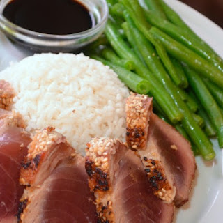 Sesame-Crusted Seared Ahi Tuna.