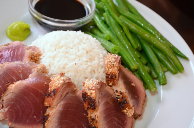 Sesame-Crusted Seared Ahi Tuna Recipe