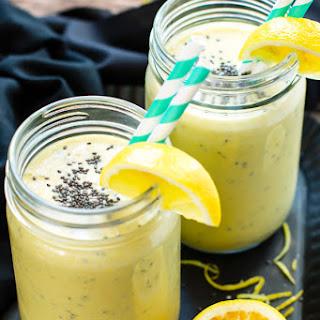 Lemon Turmeric Smoothie with Chia Seeds.