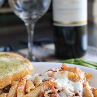 BAKED PENNE WITH SLOW COOKER RAGU BOLOGNESE.