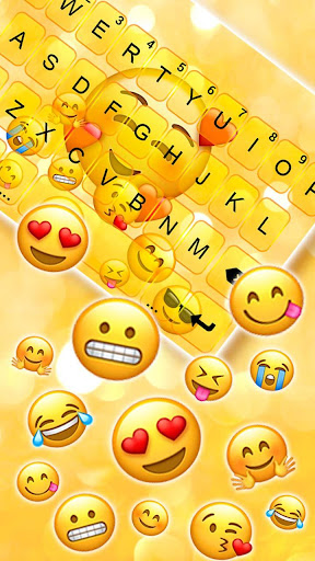 Emojis 3D Gravity Keyboard Theme screenshots 1