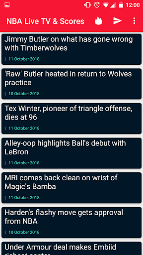 NBA Games Live on TV - Free 1.2 screenshots 7