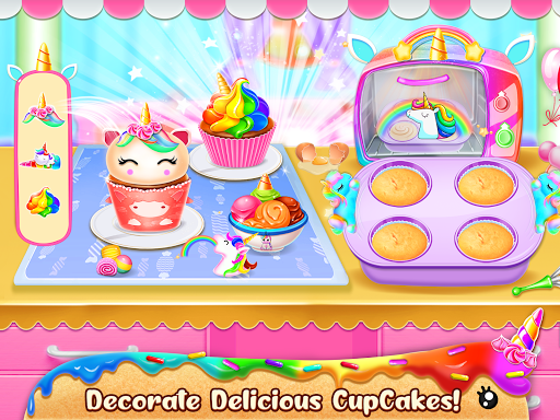 Unicorn Food Bakery Mania: Baking Games android2mod screenshots 9