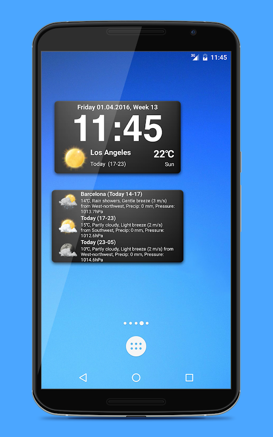 Weather widgets- screenshot