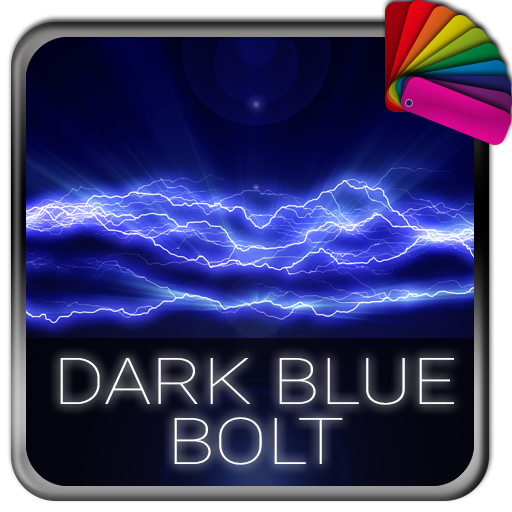 Dark Blue Bolt Xperia Theme