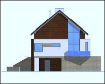Dom na górce - Elewacja lewa