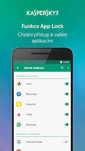 Kaspersky Mobile Antivirus: AppLock & Web Security - náhled